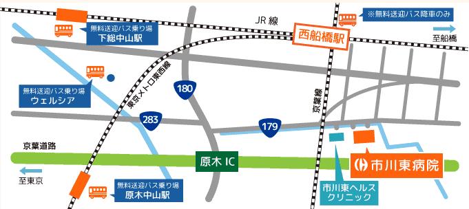 市川東病院周辺地図